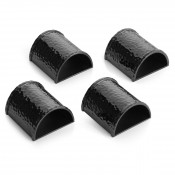 Set/4 Black Napkin Rings, 5.5x5cm