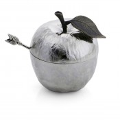Apple Honey Pot with Spoon, 10cm - Sivertone