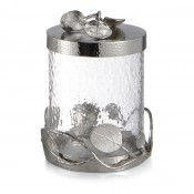 Small Glass Canister, 19.5cm