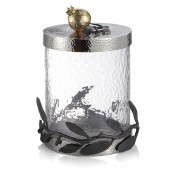Small Glass Canister, 21.5cm