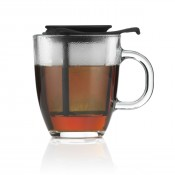 Yo-Yo - Mug & Tea Strainer, 12.5cm, 350ml - Black