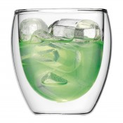 Pavina - Set/2 Small Double Wall Glasses, 9cm, 250ml