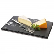 Cheesy L Slate Cheese Set, 33x23cm - Slate Board & Knife