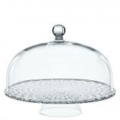 2-Piece Footed Cake Plate/Stand with Dome