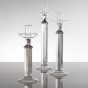 Set/3 Glass Candleholders