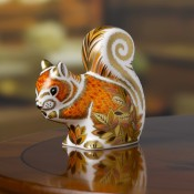 Autumn Squirrel Paperweight, 8.5cm