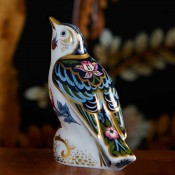 The Strawberry Thief Thrush Paperweight, 12cm