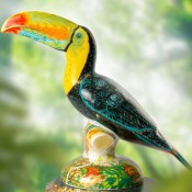Rio Toucan Paperweight, 17cm