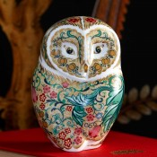 Parchment Owl Paperweight, 11cm