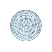 Glass Plate, 17cm - Light Blue