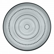 Glass Plate, 25cm - Grey