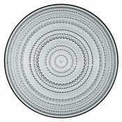 Glass Plate, 31.5cm - Grey