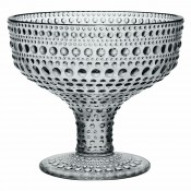 Glass Footed Bowl, 10cm, 350ml - Grey