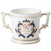 Queen Elizabeth II 90th Birthday Loving Cup, 7.5cm