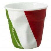 Italian Flag Crumpled Espresso Cup, 5.5cm, 80ml