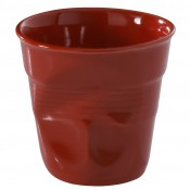 Pepper Red Crumpled Cappuccino Cup, 8cm, 180ml