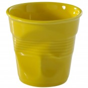 Yellow Crumpled Cappuccino Cup, 8cm, 180ml