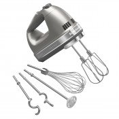 9 Speed Cocoa Silver Architect Hand Mixer