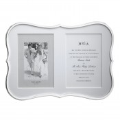 "Silver Plate Double Invitation Frame, 13x18cm (5""x7"")"