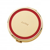 """Darling"" Compact, 6.5cm - Red"
