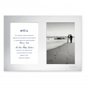 Silver Plate Double Invitation Frame