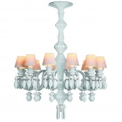 Belle de Nuit White 12 Light/Bulbs Chandelier, 75cm