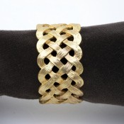 Set/4 Gold Plate Napkin Rings