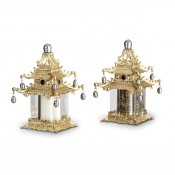 Gold Plate Spice/Salt & Pepper Shakers