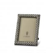 "Noir Platinum Plate Rectangular Frame, 5x8cm (2""x3')"