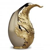 Gold Plate Vase, 28cm