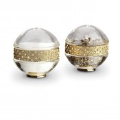 Gold Plate Band Spice/Salt & Pepper Shakers