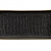 Medium Rectangular Black Tray, 31x15cm
