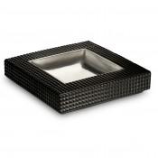 Platinum Plate Black Vide Poche, 25x25cm