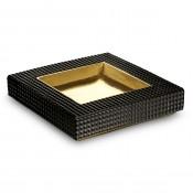 Gold Plate Black Vide Poche, 25x25cm