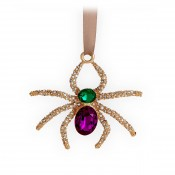 Spider Ornament, 7x7cm - Gold