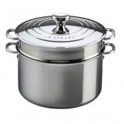 Stock Pot with Lid & Pasta Insert, 8.5L