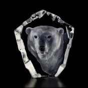 Wildlife Polar Bear Head, 22.5cm