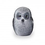 Safari Small Black Owl, 15cm