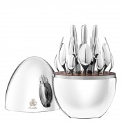Service for 6 People 24-Piece Cutlery Set with Storage Capsule - Silver Plate