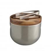 Ice Bucket with Tongs, 21cm