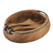 Salad Bowl with Servers, 40.5cm
