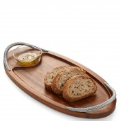 Serving Board with Dipping Bowl/Dish, 46cm