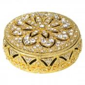 Round Gold Box, 3cm