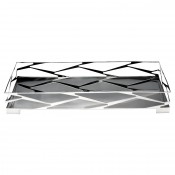 Trama Rectangular Tray with Black Glass