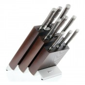 10-Piece Beechwood Knife Block, Brown