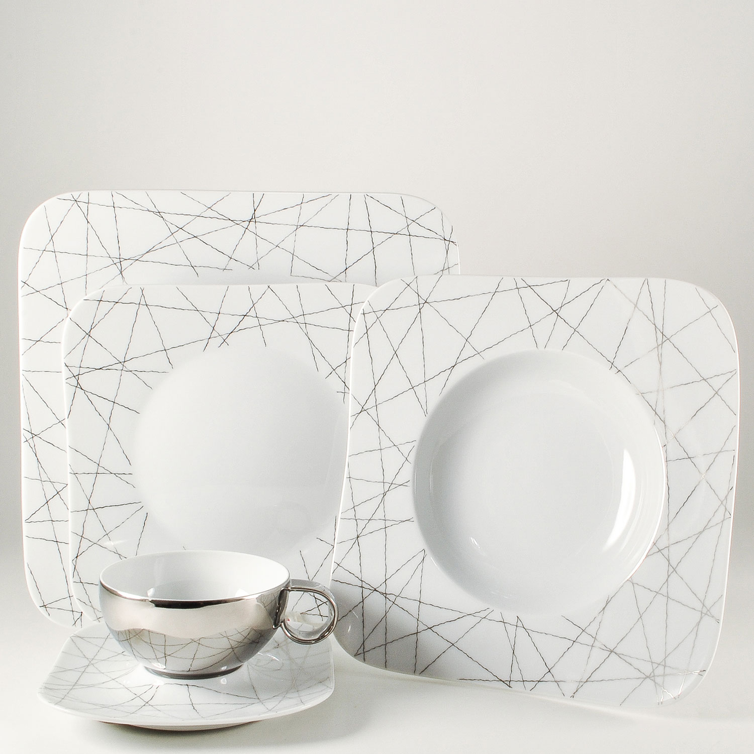 5 Piece Place Setting - Low Cup