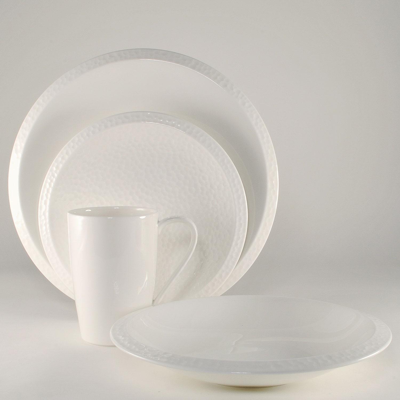 4 Piece Place Setting - Rim Soup Bowl