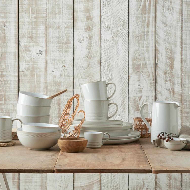 4 Piece Place Setting - Textured Mug