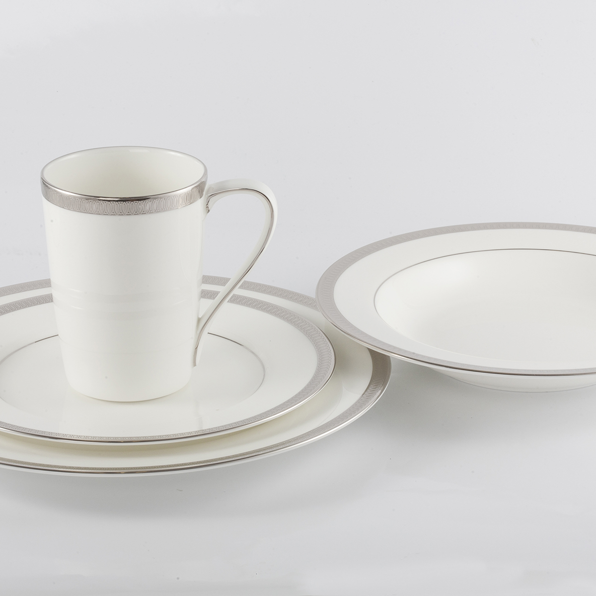 5 Piece Place Setting - Rim Soup Bowl, Imperial Cup