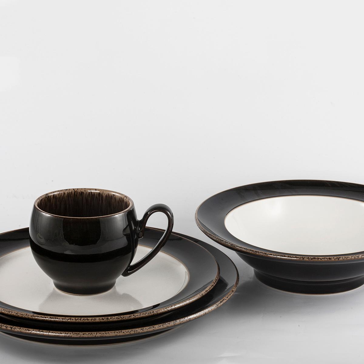 4 Piece Place Setting - Rim Soup/Small Mug